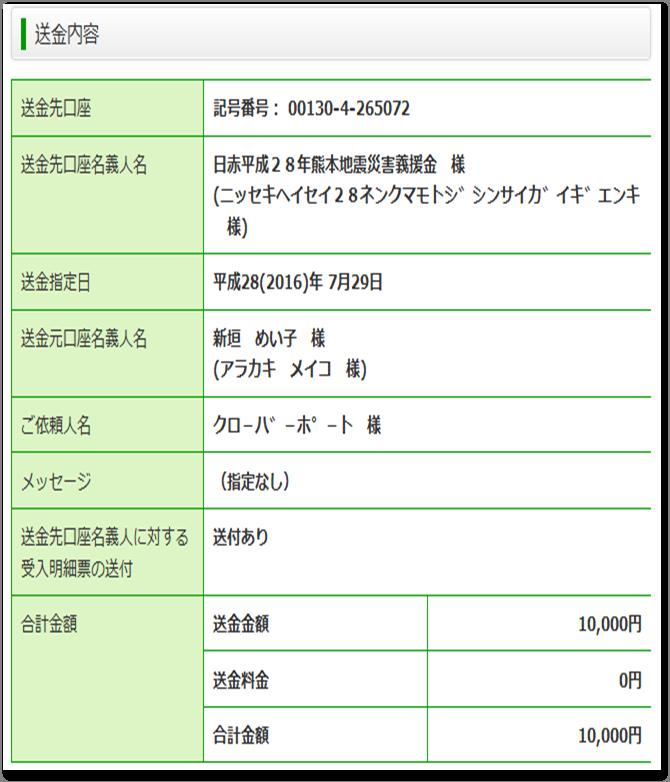 寄付(熊本)
